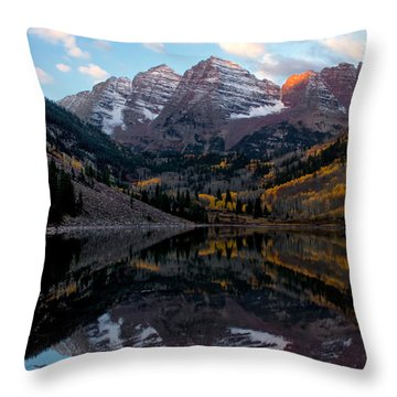 Throw Pillow featuring the photograph Maroon Bells by Ronda Kimbrow