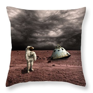 Marooned No.3  Throw Pillow