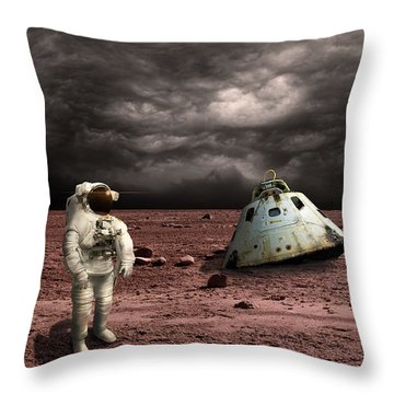 Marooned No.3h Throw Pillow