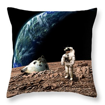Marooned No.4 Throw Pillow