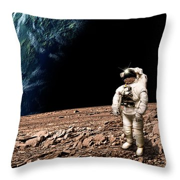 Marooned No.4bh Throw Pillow