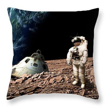 Marooned No.4h Throw Pillow