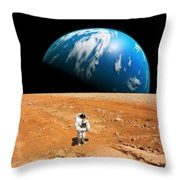 Marooned No.6 Throw Pillow