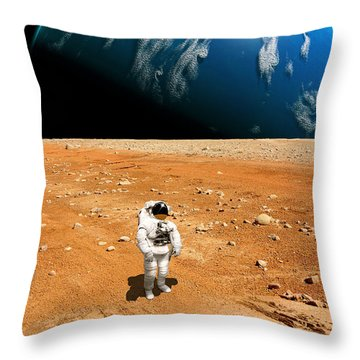 Marooned No.6h  Throw Pillow