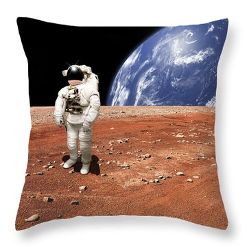 Marooned No.8s Throw Pillow