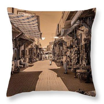 Marrackech Souk At Noon Throw Pillow