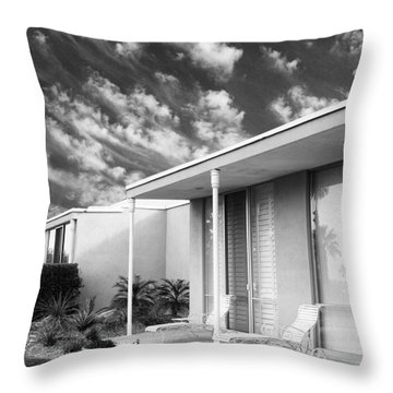Marrakesh Lounge Bw Palm Springs Throw Pillow by William Dey