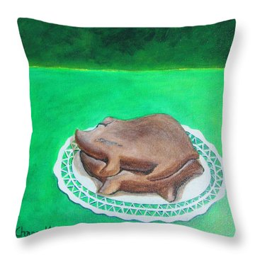 Marranitos Throw Pillow by Manny Chapa