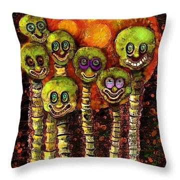 Mars Curiosity  Throw Pillow by Carol Jacobs
