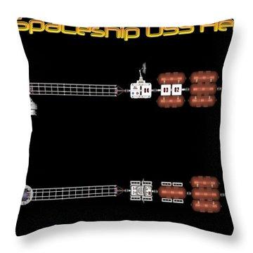 Mars Spaceship Hermes1 Throw Pillow