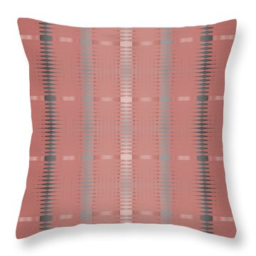 Throw Pillow featuring the digital art Marsala Stripe by Kevin McLaughlin