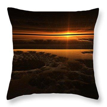 Marscape Throw Pillow by GJ Blackman