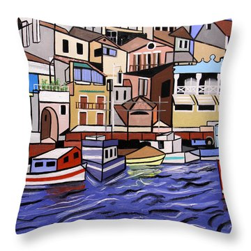 Marseille France Throw Pillow by Anthony Falbo