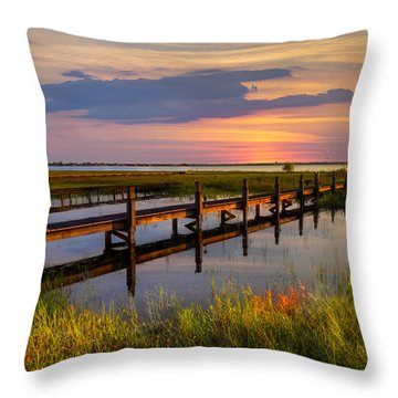 Marsh Harbor Throw Pillow