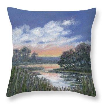 Marsh Sketch # 3 Throw Pillow