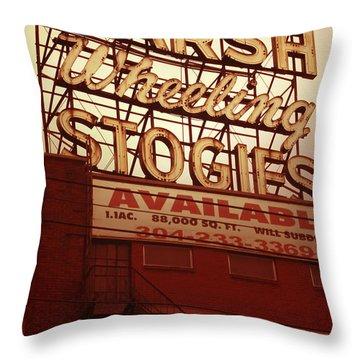 Marsh Stogies Sign Throw Pillow