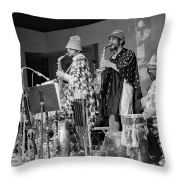 Marshall Allen And Danny Davis Throw Pillow by Lee  Santa