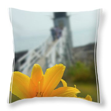 Marshall Point Lighthouse  Throw Pillow by Mike McGlothlen