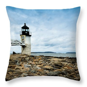 Marshall Point Lighthouse Panoramic Throw Pillow