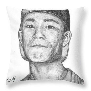 Marshallese Boy 3 Throw Pillow by Lew Davis