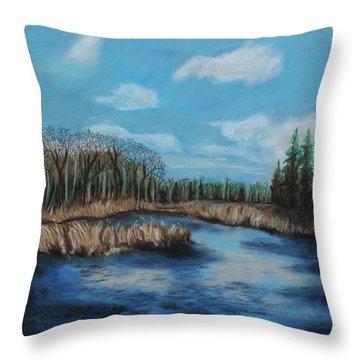 Marshland 1 Throw Pillow