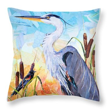 Marshland Moring Throw Pillow