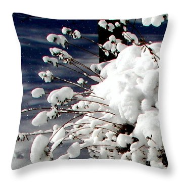 Marshmallow Sprouts Throw Pillow by Pamela Hyde Wilson
