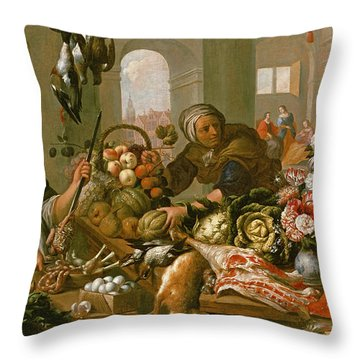 Martha And Mary Throw Pillow