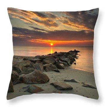 Marthas Vineyard Sunrise Throw Pillow