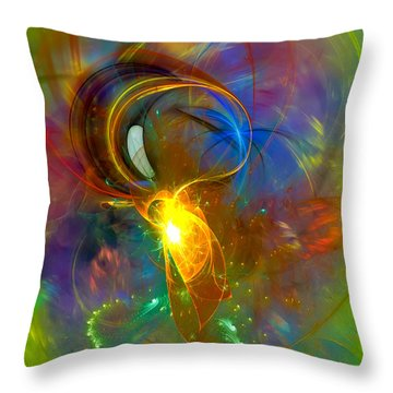 Martian Dance - Cool Alien Art Throw Pillow