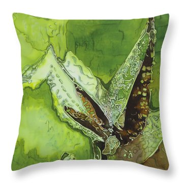 Martian Maize Throw Pillow