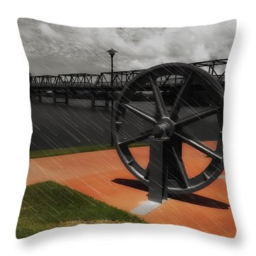 Throw Pillow featuring the photograph Martin Bridge 00001 by Kevin Chippindall