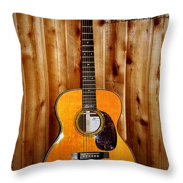 Martin Guitar - The Eric Clapton Limited Edition Throw Pillow