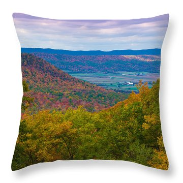 Martin Hill Foliage Throw Pillow