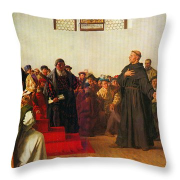 Martin Luther Before The Diet Of Worms Throw Pillow