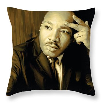 Martin Luther King Jr Artwork Throw Pillow