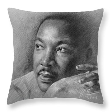 Martin Luther King Throw Pillows