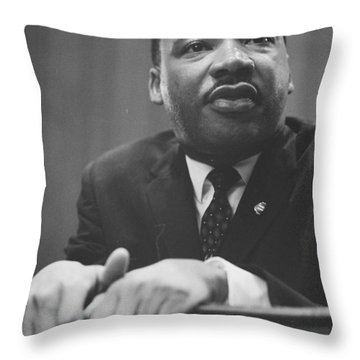 Martin Luther King Press Conference 1964 Throw Pillow by Anonymous
