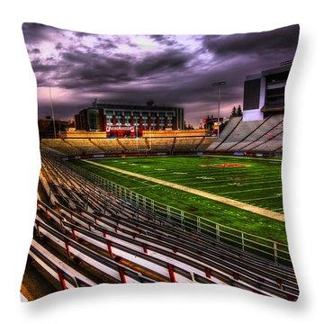 Martin Stadium - Home Of Wsu Football Throw Pillow