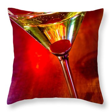 Martini At The Local Pub Throw Pillow