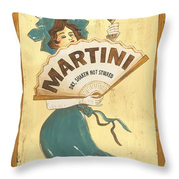 Martini Dry Throw Pillow