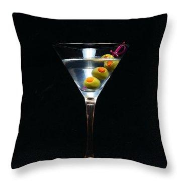 Martini Throw Pillow by Paul Ward