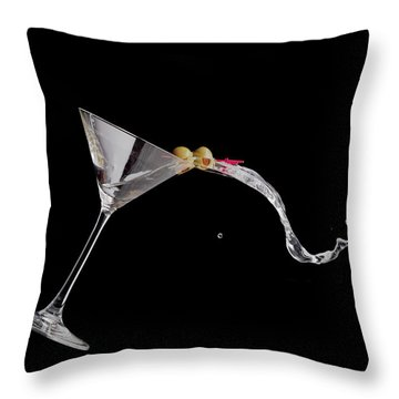 Martini Spill Throw Pillow by Alexey Stiop