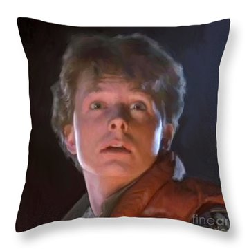 Marty Mcfly Throw Pillow by Paul Tagliamonte