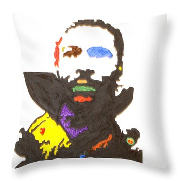 Throw Pillow featuring the painting Marvin Gaye by Stormm Bradshaw