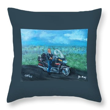 Throw Pillow featuring the painting Marvins Ride by The GYPSY And DEBBIE