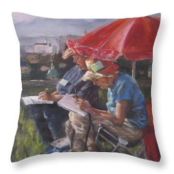 Mary And Deyls In Salzberg Throw Pillow