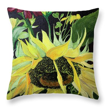 Mary Ann II Throw Pillow by Jane Autry
