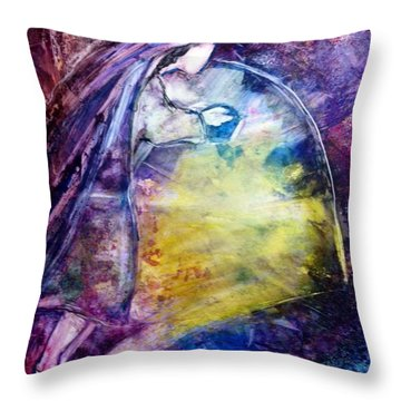 Mary At The Tomb Throw Pillow