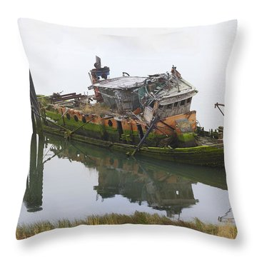 Mary D Hume Throw Pillow by Debra and Dave Vanderlaan
